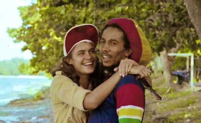 Bob Marley and Cindy Breakspeare