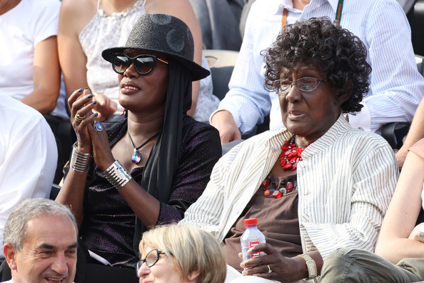 Grace Jones and her mother