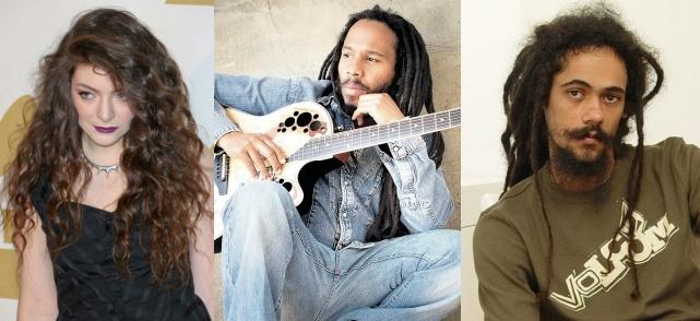 Lorde, Ziggy Marley and Damian Marley