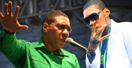 Anrew Holness and Vybz Kartel